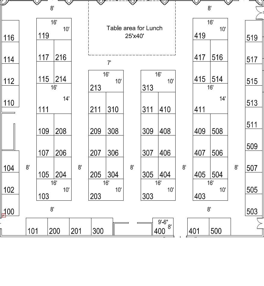 Exhibit Hall Floor Map